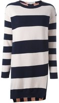 Stella McCartney striped shift mini dress - women - Silk/Cashmere/Wool - 40
