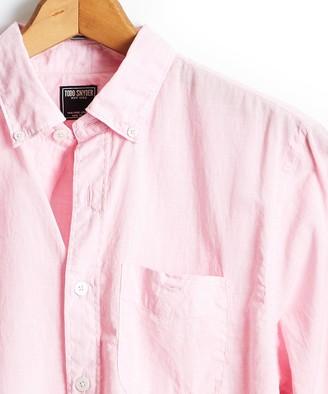 Todd Snyder Lightweight Button Down Shirt Light Pink