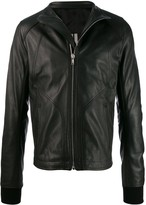 Rick Owens zipped leather jacket