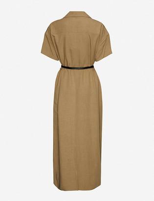 AKIRA NAKA Tiziana belted woven maxi dress