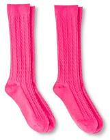 Circo Girls' Solid Crew Socks 2 pk Pink