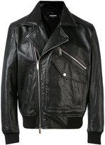 DSQUARED2 biker jacket - men - Cotton/Calf Leather/Polyamide/Wool - 50