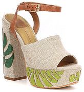 Dolce Vita Lando Palm Tree Platform Sandals