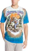 Liquid Blue Men's Grateful Dead Banjo T-Shirt, Multi