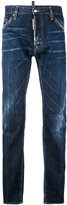 DSQUARED2 denim straight jeans - men - Cotton/Leather - 44