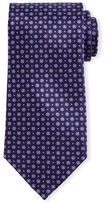 Stefano Ricci Neat Floral-Dot Patterned Silk Tie