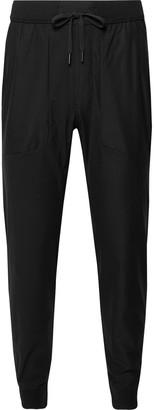 Lululemon ABC Tapered Warpstreme Drawstring Trousers - Men - Black