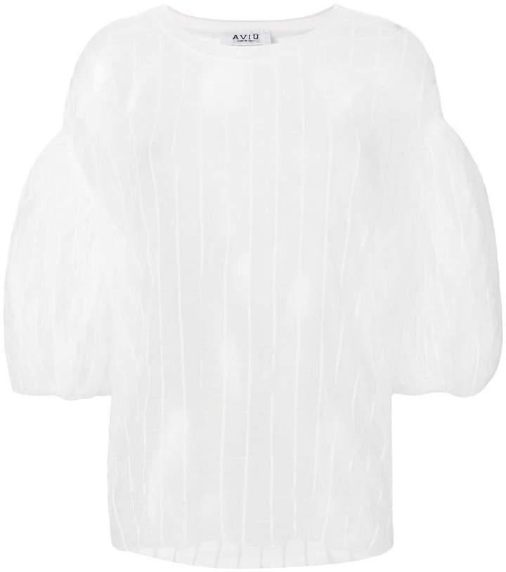 Aviu striped sheer blouse