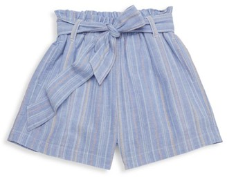Habitual Girl's Striped Pull-On Paperbag Shorts