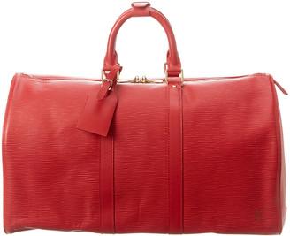 Louis Vuitton Castilian Red Epi Leather Keepall 50