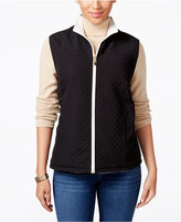 Karen Scott Reversible Fleece Vest, Only at Macy's