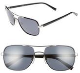 Ted Baker Men's 59Mm Polarized Navigator Sunglasses - Black