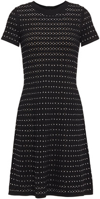 MICHAEL Michael Kors Studded Pointelle-knit Mini Dress