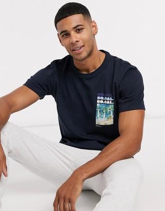 Selected yucca print o-neck t-shirt
