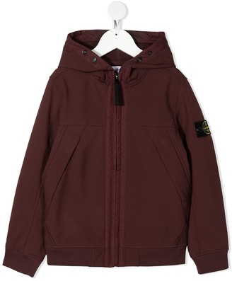 Stone Island Junior Compass Badge Hooded Jacket