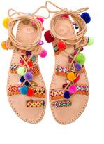 Elina Linardaki Penny Lane Leather Sandals