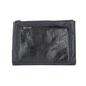 Whistles Black Leather Clutch bags