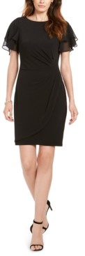 Jessica Howard Flutter-Sleeve Sheath Dress