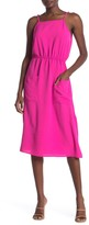 GOOD LUCK GEM Sleeveless Woven Midi Dress