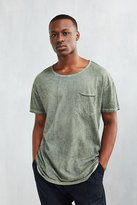 Urban Outfitters Feathers Oil Wash Long Scoopneck Tee
