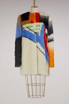 Marco De Vincenzo Fake fur crew neck coat