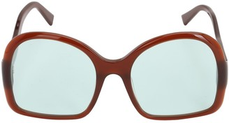 George Keburia Oversize Acetate D-Frame Sunglasses
