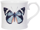 Magpie Curios Butterfly Mug, White/Multi, 378ml