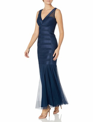 JS Collections Women's V Neck Banded Gown