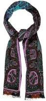 Etro Silk & Wool-Blend Paisley Scarf w/ Tags