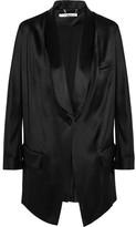 Givenchy Blazer In Black Silk-satin