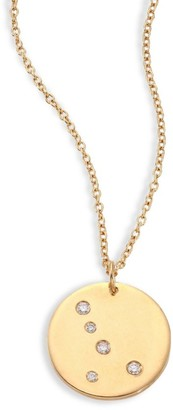 Bare Constellations Cancer Diamond & 18K Yellow Gold Pendant Necklace