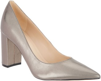 Marc Fisher Leather or Suede Block Heeled Pumps - Viviene