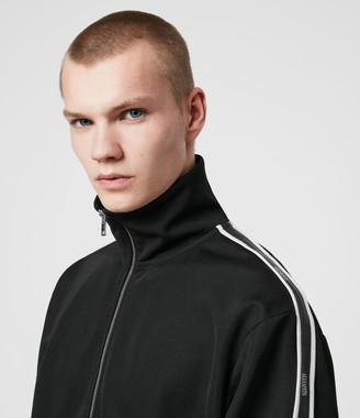 AllSaints Josh Zip Funnel Neck Sweatshirt