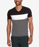 Nautica Men's Slim-Fit Pieced Stripe V-Neck T-Shirt