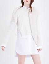 Burberry Drape-detail cashmere jumper