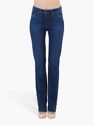 Paige Hoxton High Rise Straight Leg Jeans, Brentwood Mid Wash