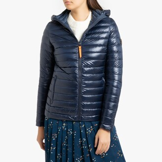 Gertrude + Gaston Francine Shiny Padded Jacket with Hood