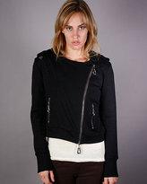 Monarchy Fleece Moto Jacket in Black