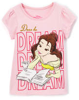 Children's Apparel Network Pink Beauty and the Beast 'Dare' Cap-Sleeve Tee - Toddler & Girls