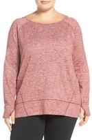 Zella 'Etoile' Melange Pullover (Plus Size)