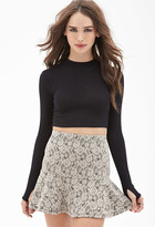 Forever 21 FOREVER 21+ Floral Lace Fluted Skirt