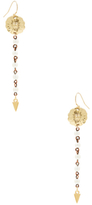 Vanessa Mooney Moon & Stars Pearl Drop Earrings