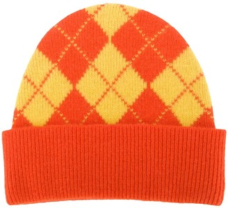 Pringle Reissued argyle Intarsia beanie