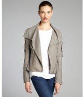 Elie Tahari limestone perforated lambskin 'Alexa' jacket