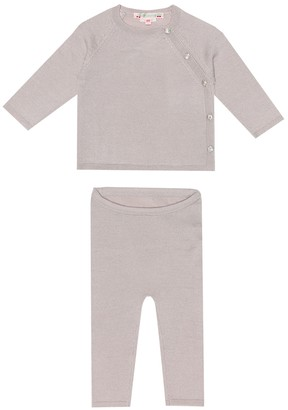Bonpoint Baby wool top and pants set