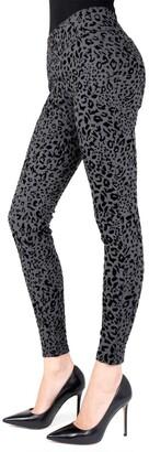 Me Moi Cheetah Flocked Shaping Leggings