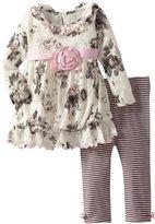 Bonnie Baby Baby-Girls Infant Glitter Floral Sweater Legging Set