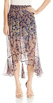 Twelfth Street By Cynthia Vincent Women's Midi Ruffle Maxi Skirt