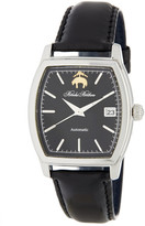 Brooks Brothers Men&s Premium Collection Rectangular Leather Strap Watch