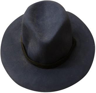 Maje Blue Wool Hats
